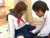 Horny Alice Ozawa fucking in school clothes!