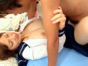 Horny Alice Ozawa fucking in school clothes!asian babe, asian schoolgirl}
