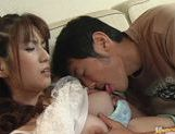 Haruki Rohno fucks doggy style and gets her face covered in cum.
