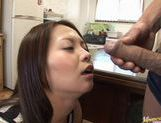 Hinayo Motoki gets fucked hard by two horny Asian guys. picture 10