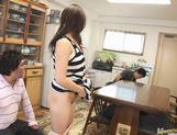Hinayo Motoki gets fucked hard by two horny Asian guys. picture 8