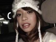 Kokomi Iizuka Sweet Asian model has sex in the car