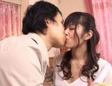 Sexy Asian Haruna Ayase gets a dildo in her pretty pink pussy. picture 6