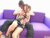 Sally Yoshino in pigtails receiving creampie