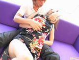 Sally Yoshino in pigtails receiving creampie picture 5