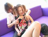 Sally Yoshino in pigtails receiving creampie picture 8