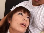Akane Mochida as a sexy maid fucking hardcore action