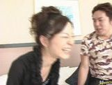 Perfect babe Sana Okada gives the perfect blowjob and takes cock in pussy.