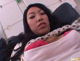 Nice babe Chris Ozawa gets fucked hard and eats sperm. picture 14