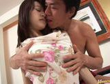 Nice and cute Karin takes a big cock in bed. picture 7