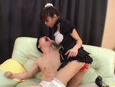 Kinky Japanese babe Riko Tachibana loves to suck and fuck. picture 15