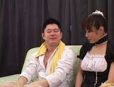 Kinky Japanese babe Riko Tachibana loves to suck and fuck.