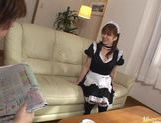 babetie maid Yui Asahina gets some dildo insertion and cums for you. picture 1