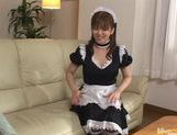 babetie maid Yui Asahina gets some dildo insertion and cums for you. picture 2