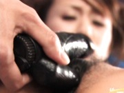 Ami Atsuda gets some sexy toys in her pretty hairy cunt.
