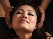 Hot Aki Anzai gets vibrators in pussy and sucks dildo.