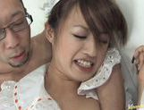 Sexy maid Ami Matsuda licks and fucks hard for pleasure picture 15
