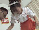 Sexy maid Ami Matsuda licks and fucks hard for pleasure