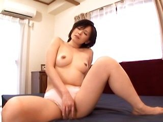 Hot mature Japanese AV Model in wet panty enjoys pussy licking with doggystyle