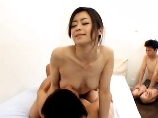 Horny Japanese housewives fuckign