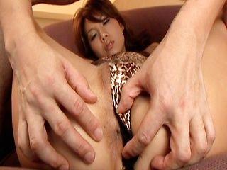 Rena Kousaki Asian babe shows sweet pussy