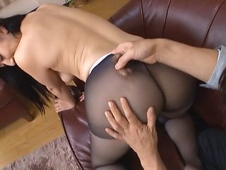 Long-haired Asian brunette Aya Shiina gets fucked doggie fashion