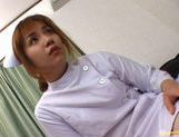 Hot Asian nurse has sex at work picture 9