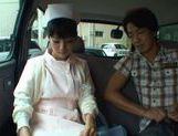 Hot Asian nurse has sex in a car picture 11