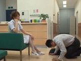 Akiho Yoshizawa Japanese naughty nurse has sex in hospital picture 3