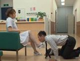 Akiho Yoshizawa Japanese naughty nurse has sex in hospital picture 4