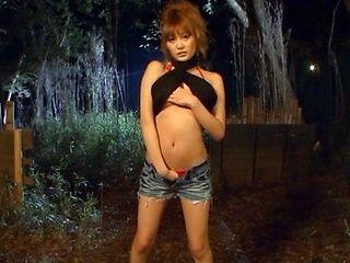 Perfect Asian babe Kirara Asuka makes a hot blowjob outdoors.
