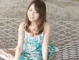 Akiho Yoshizawa pretty Asian milf enjoys sex outdoors picture 12