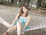 Akiho Yoshizawa pretty Asian milf enjoys sex outdoors picture 13