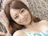 Akiho Yoshizawa pretty Asian milf enjoys sex outdoors picture 15