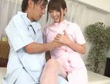 Exquisite Japanese nurse Yui Hatano teases cock picture 11