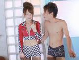 Hot arousing sex video of a Japanese race queen. picture 5