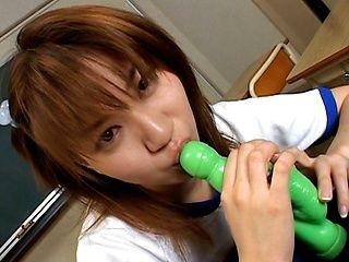 Aya Natsuki has a wild dildo session!