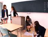 Juicy Asian schoolgirls have lesbian fun picture 6