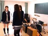 Juicy Asian schoolgirls have lesbian fun picture 9