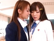 Juicy Asian schoolgirls have lesbian fun