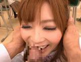 Amazing Japanese girl Rina Kato gives great blowjob at school picture 5