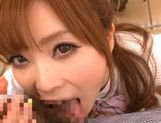 Amazing Japanese girl Rina Kato gives great blowjob at school picture 9