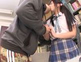 Asian schoolgirl Yuuki Itano gets deep penetrated picture 11