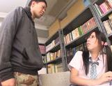 Asian schoolgirl Yuuki Itano gets deep penetrated picture 5