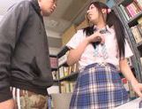 Asian schoolgirl Yuuki Itano gets deep penetrated picture 7