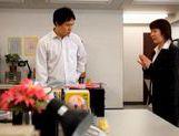 Yui Tatsumi Japanese teacher spreads her legs in class