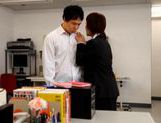 Yui Tatsumi Japanese teacher spreads her legs in class