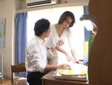 Busty MILF Mio Takahashi lets a student feast on her Ttts picture 4