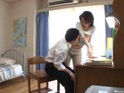 Busty MILF Mio Takahashi lets a student feast on her Ttts