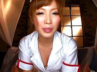 Sexy nurse Kokone Mizutani blowjob